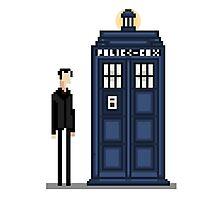 Pixel ninth Doctor Photographic Print