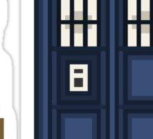 Pixel tenth Doctor Sticker