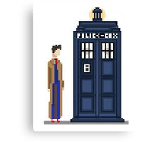 Pixel tenth Doctor Canvas Print