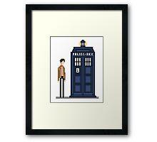 Pixel eleventh Doctor Framed Print