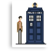 Pixel eleventh Doctor Canvas Print