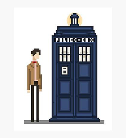 Pixel eleventh Doctor Photographic Print