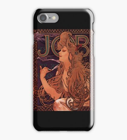 'Job' by Alphonse Mucha (Reproduction) iPhone Case/Skin
