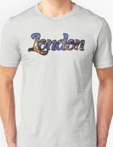 LONDON ENGLAND UNITED KINGDOM GREAT BRITAIN PANORAMIC TYPOGRAPHY Unisex T-Shirt