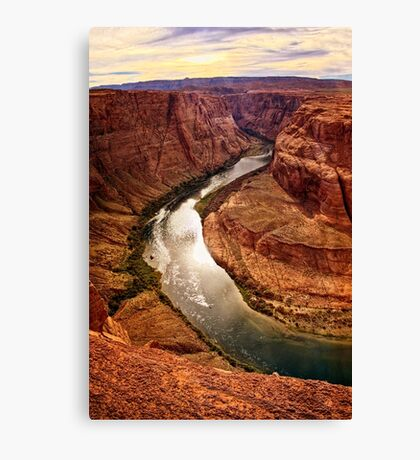Around the Bend and Through the Canyon Walls Canvas Print