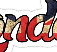 LONDON ENGLAND UNITED KINGDOM FLAG GREAT BRITAIN PANORAMIC TYPOGRAPHY Sticker