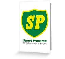 BP style british racing logo Greeting Card