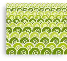 Green Beach Waves Canvas Print