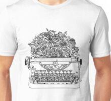 Typewriter Bouquet  Unisex T-Shirt