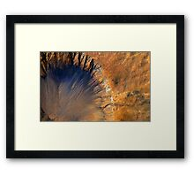 Beautiful Aerial View of Volcanic Landscape Framed Print