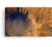 Beautiful Aerial View of Volcanic Landscape Canvas Print
