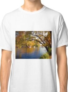 Fall Time Along the River Classic T-Shirt