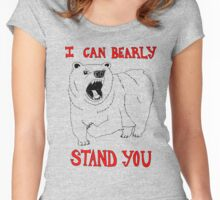 Animals Are Mean: Bear Women's Fitted Scoop T-Shirt