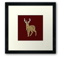 Graphic Deer Framed Print