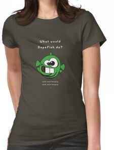 What would Dopefish do? Womens Fitted T-Shirt