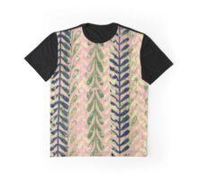 Vine Pattern - Pink Graphic T-Shirt