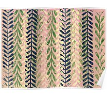 Vine Pattern - Pink Poster