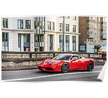 Ferrari 458 Speciale Poster