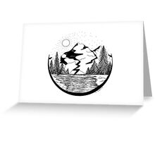 Mountainscape Greeting Card