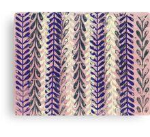 Vine Pattern - Pink 2 Canvas Print