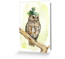 Strange Elf Owl Greeting Card