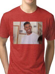 Question Mark Guy (Meme) Tri-blend T-Shirt