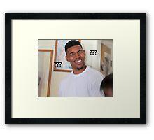 Question Mark Guy (Meme) Framed Print