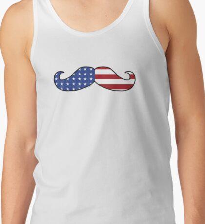 Patriotic Funny Mustache  Tank Top