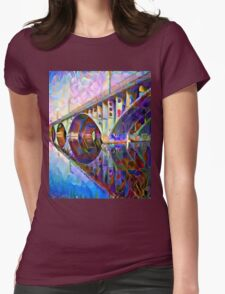 Colorful Bridge Womens Fitted T-Shirt
