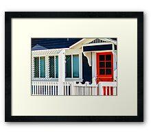 California Beach Cottage Framed Print