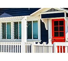 California Beach Cottage Photographic Print