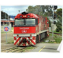 The Ghan train locomotive engine, Australia Poster