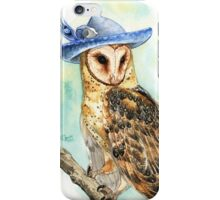 Strange Barn Owl iPhone Case/Skin