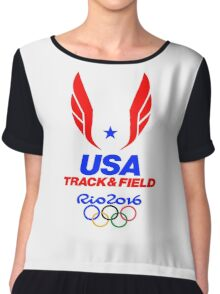 TEAM USA TRACK AND FIELD - RIO OLYMPICS 2016 Chiffon Top