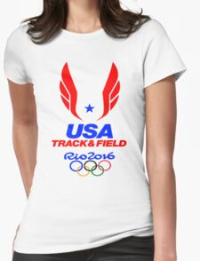 TEAM USA TRACK AND FIELD - RIO OLYMPICS 2016 Womens Fitted T-Shirt