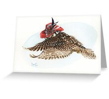Strange Northern Hawk Owl Greeting Card
