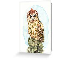 Strange Tawny Owl Greeting Card