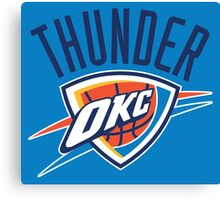 OKC Thunder Canvas Print