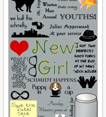 New Girl Sticker