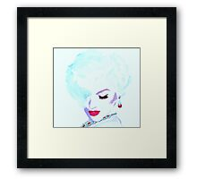 Fatal White, Marilyn Punk Art Framed Print