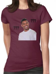 Question Mark Guy (Meme) - Transparent Womens Fitted T-Shirt