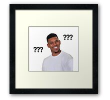 Question Mark Guy (Meme) - Transparent Framed Print