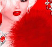 Marilyn, Rubies and Diamonds Sticker