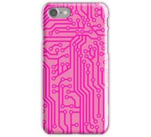 Geeky Pink Circuit Board Pattern iPhone Case/Skin