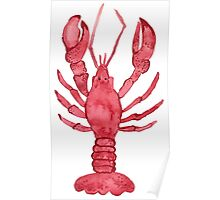 Lobster Watercolor Poster