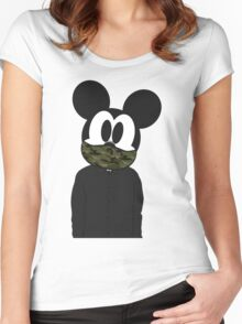 Hipster mickey Women's Fitted Scoop T-Shirt