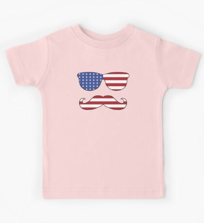 Patriotic Funny Face Kids Tee