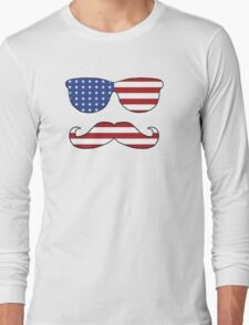 Patriotic Funny Face Long Sleeve T-Shirt