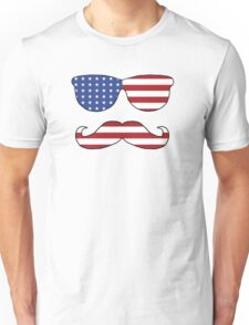 Patriotic Funny Face Unisex T-Shirt