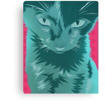Cyan Cat Canvas Print